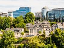 Arquitetura da cidade de Luxemburgo Fotografia de Stock