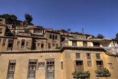Arquitetura da cidade de Masuleh, vila velha em Irã Imagem de Stock