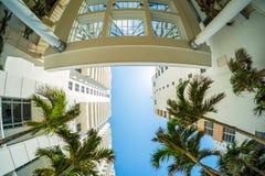 Arquitetura da cidade de Miami Beach imagem de stock