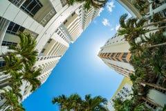 Arquitetura da cidade de Miami Beach fotografia de stock