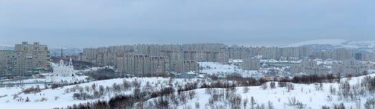 Arquitetura da cidade de Murmansk Fotografia de Stock Royalty Free