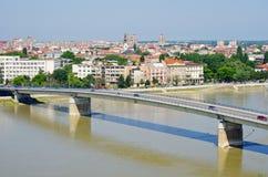 Arquitetura da cidade de Novi Sad, Sérvia imagens de stock