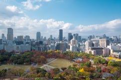 Arquitetura da cidade de Osaka, uma de uma prefeitura bonita em Japão Foto de Stock Royalty Free