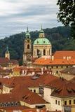 Arquitetura da cidade de Praga das paredes do castelo de Praga Praga Imagens de Stock Royalty Free