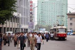 Arquitetura da cidade 2013 de Pyongyang Imagens de Stock