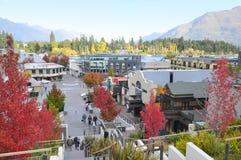 Arquitetura da cidade de Queenstown, Nova Zelândia Fotos de Stock Royalty Free