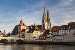 Arquitetura da cidade de Regensburg Imagens de Stock
