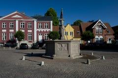 Arquitetura da cidade de Ribe, Dinamarca fotos de stock