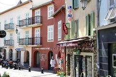 Arquitetura da cidade de Saint Jean Cap Ferrat, França Fotografia de Stock Royalty Free
