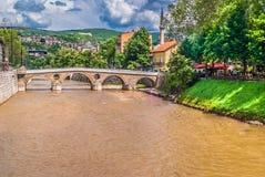 Arquitetura da cidade de Sarajevo Bósnia Imagem de Stock