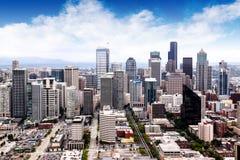 Arquitetura da cidade de Seattle Fotos de Stock Royalty Free