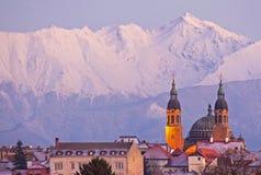 Arquitetura da cidade de Sibiu Imagem de Stock