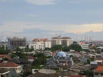 Arquitetura da cidade de Slipi, Jakarta fotografia de stock royalty free