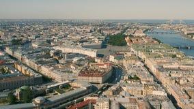 Arquitetura da cidade de St Petersburg video estoque