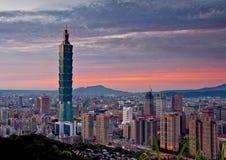 Arquitetura da cidade de Taipei Foto de Stock Royalty Free