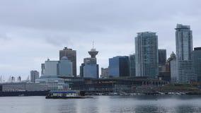 Arquitetura da cidade de Timelapse de Vancôver, Columbia Britânica 4K video estoque