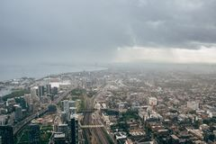 Arquitetura da cidade de Toronto da torre da NC foto de stock