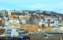 Arquitetura da cidade de Tromso Noruega Fotografia de Stock Royalty Free