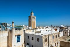 Arquitetura da cidade de Tunes, Tunísia foto de stock royalty free