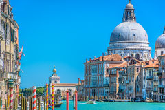 Arquitetura da cidade de Veneza do barco, Itália Fotografia de Stock Royalty Free