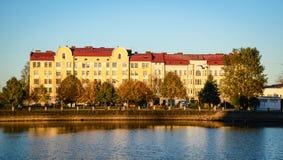 Arquitetura da cidade de Vyborg, Rússia Imagens de Stock