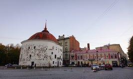 Arquitetura da cidade de Vyborg, Rússia Imagem de Stock
