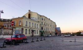 Arquitetura da cidade de Vyborg, Rússia Fotos de Stock Royalty Free