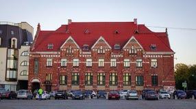 Arquitetura da cidade de Vyborg, Rússia Imagem de Stock Royalty Free