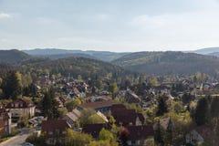 Arquitetura da cidade de Wernigerode nas montanhas de Harz Foto de Stock Royalty Free