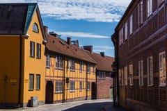 Arquitetura da cidade de Ystad Imagem de Stock Royalty Free