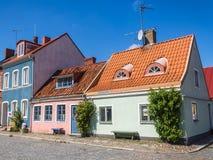Arquitetura da cidade de Ystad Imagens de Stock