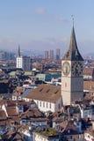 Arquitetura da cidade de Zurique Imagem de Stock