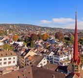Arquitetura da cidade de Zurique Imagens de Stock Royalty Free