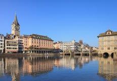 Arquitetura da cidade de Zurique Imagem de Stock Royalty Free