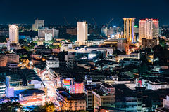 Arquitetura da cidade do centro de Chiang Mai Imagens de Stock Royalty Free