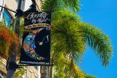 Arquitetura da cidade do centro de West Palm Beach imagens de stock