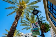 Arquitetura da cidade do centro de West Palm Beach imagens de stock royalty free