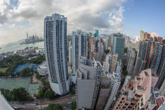 Arquitetura da cidade do dia de Hong Kong Foto de Stock Royalty Free
