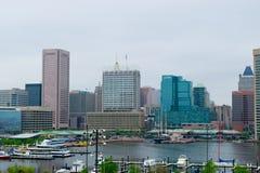 Arquitetura da cidade do monte federal em Baltimore, Maryland durante o verão fotografia de stock