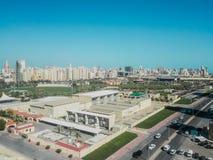 Arquitetura da cidade do parque do bulevar fotografia de stock