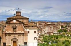 Arquitetura da cidade do Sienna imagem de stock