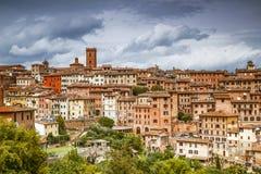 Arquitetura da cidade do Sienna, Itália foto de stock royalty free
