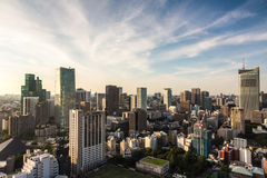 Arquitetura da cidade do Tóquio Foto de Stock Royalty Free