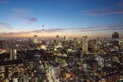 Arquitetura da cidade do Tóquio foto de stock