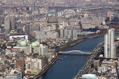 Arquitetura da cidade do Tóquio imagens de stock