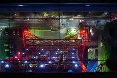 Arquitetura da cidade do Tóquio de Japão da opinião aérea da torre Foto de Stock