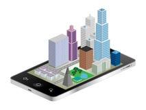 Arquitetura da cidade do telefone Fotografia de Stock Royalty Free