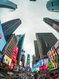 Arquitetura da cidade do tempo do dia de Time Square imagem de stock