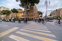 Arquitetura da cidade e arquitetura gen?rica de Roma, a capital italiana fotografia de stock royalty free