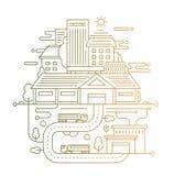 Arquitetura da cidade e vida urbana - alinhe a composição do projeto com inclinação da cor Fotografia de Stock